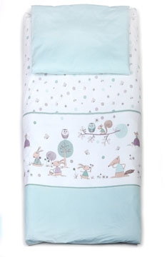 Forest Story, Soft Green bedding set