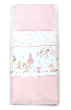 Forest Story, Soft pink bedding