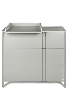 YappyClassic dresser, Light grey, LIMITED