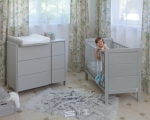 YappyModern cot, light grey LIMITED