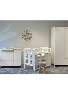 YappyClassic wardrobe and dresser with YappyQu cot